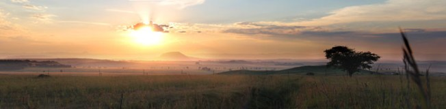 Panorama of Northern KwaZulu Natal, South Africa